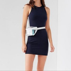 URBAN OUTFITTERS Navy Side Stripe Bodycon Dress